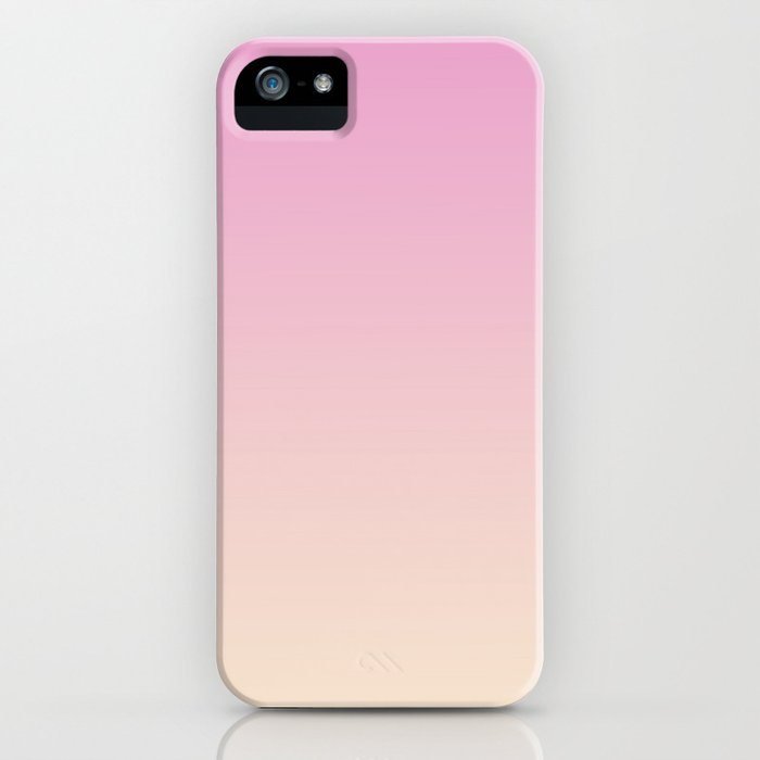 Pastel Millennial Pink Peach Gradient iPhone Case