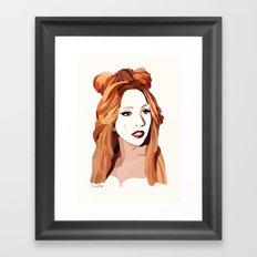Monster Goddess Framed Art Print