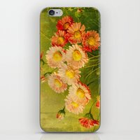 postcard iPhone & iPod Skins featuring Vintage Postcard by Connie Goldman