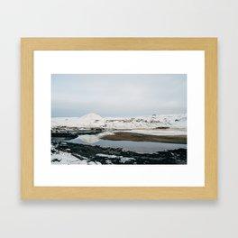 Iceland Mountain Reflection Framed Art Print