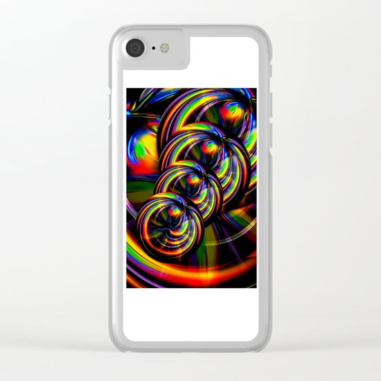 Creations in the color spectrum of the rainbow 3 Clear iPhone Case