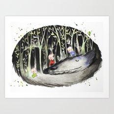 When the Wolf Sleeps Art Print