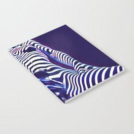 1813s-AK Sensual Blue Nude in Window Blind Stripes Notebook