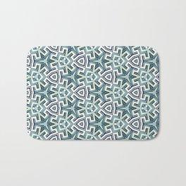 Blue Maze Bath Mat