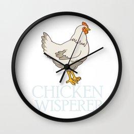 Funny Chicken Gift Cute Chicken Whisperer Design Wall Clock