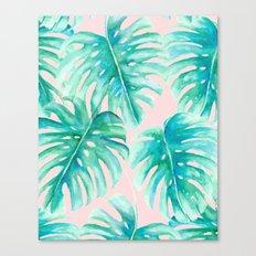 Paradise Palms Blush Canvas Print