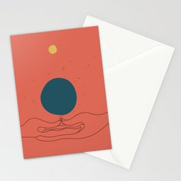 Dhyana mudra Stationery Cards