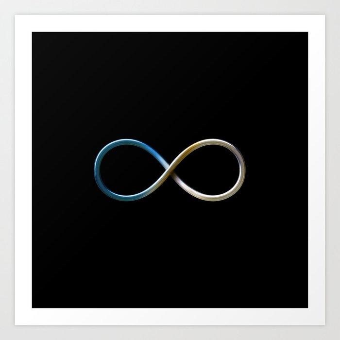 Infinity Symbol Art Print By Houkstudio Society6