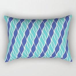Wavy Stripes of Blue Rectangular Pillow