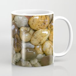 Top View of wet rock backgrounds in the tropical garden in 4:3 Ratio. Coffee Mug