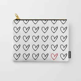 HEARTS ALL OVER PATTERN IV Carry-All Pouch