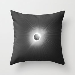 Total Solar Eclipse Illuminated by Sun  Throw Pillow