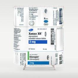 Drug Labels Shower Curtain