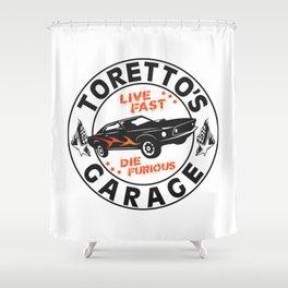Fast & Furious - Toretto's Garage Shower Curtain