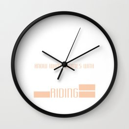"""A Cool Motocross Tee For Riders Saying """"You Know What Rhymes With Friday Riding"""" T-shirt Design Wall Clock"""