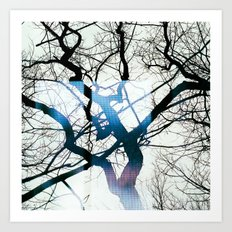 I can see windows through the trees Art Print