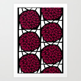 Trianglesquare Red Art Print