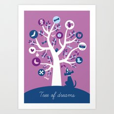 Tree of dreams Art Print