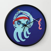 samurai Wall Clocks featuring samurai by Maria Jose Da Luz