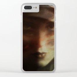 Clara, in Darkness Clear iPhone Case