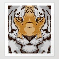 Tiger OW Art Print