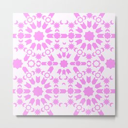 Pink Arabesque Metal Print