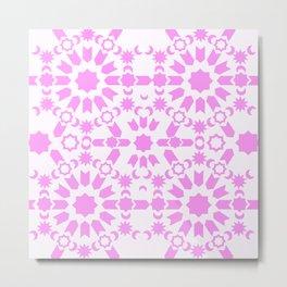 Pink Arabesque Metal Print
