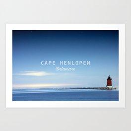 Cape Henlopen - Delaware Beaches.  Art Print