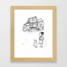 Book Mountain Framed Art Print
