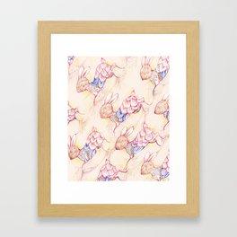 Rabbit pattern Framed Art Print