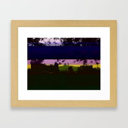 Paris and glitch Framed Art Print