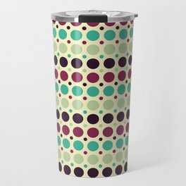 Peacock Polka Dot Pattern Travel Mug