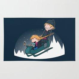 A Snowy Ride Rug