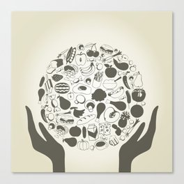 Hand food2 Canvas Print
