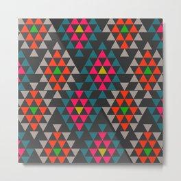 Geometric Aztec ornament Metal Print