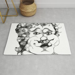 Man With Curly Hair  Rug