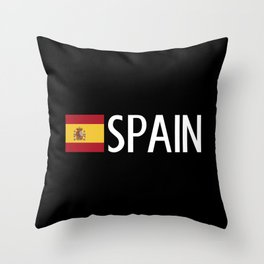 Spain: Spanish Flag & Spain Throw Pillow