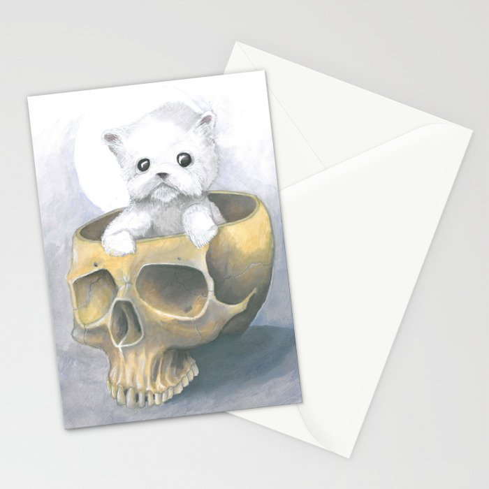 i ated all the brains Stationery Cards