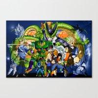 dbz Canvas Prints featuring DBZ - Cell Saga by Mr. Stonebanks