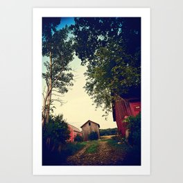 Wisconsin farm Art Print