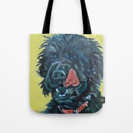 Chester the Black Fluffy Dog Tote Bag