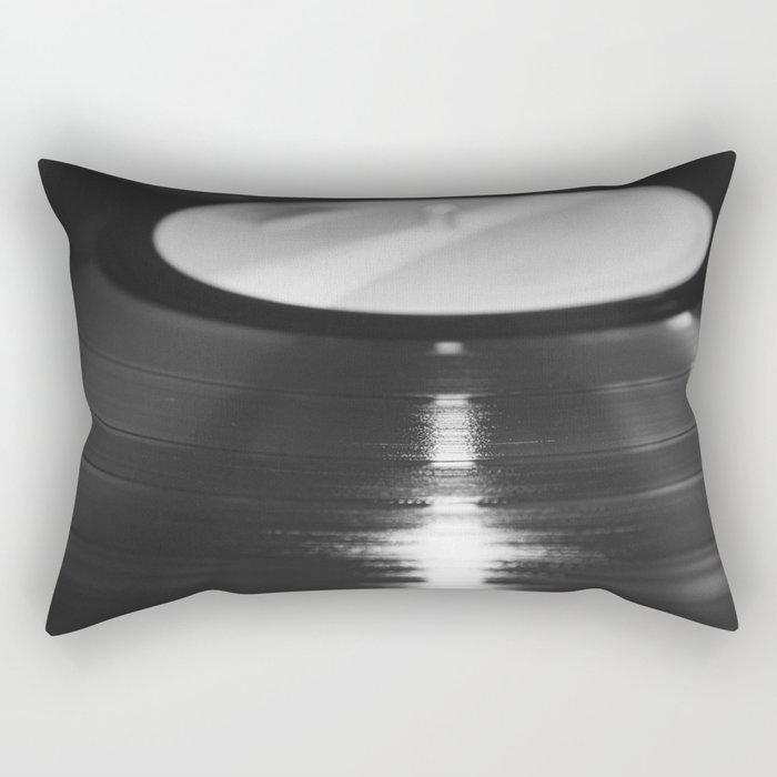 Record (Black and White) Rectangular Pillow