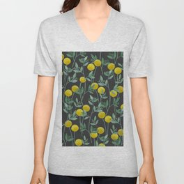 Billy Bob's and Eucalyptus with Charcoal Background Unisex V-Neck