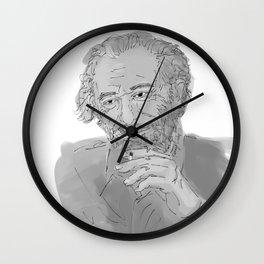 Charles Bukowski Wall Clock