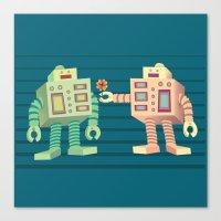 robots Canvas Prints featuring Robots by Sydney's Doodles