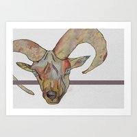 goat Art Prints featuring Goat by WaterLily