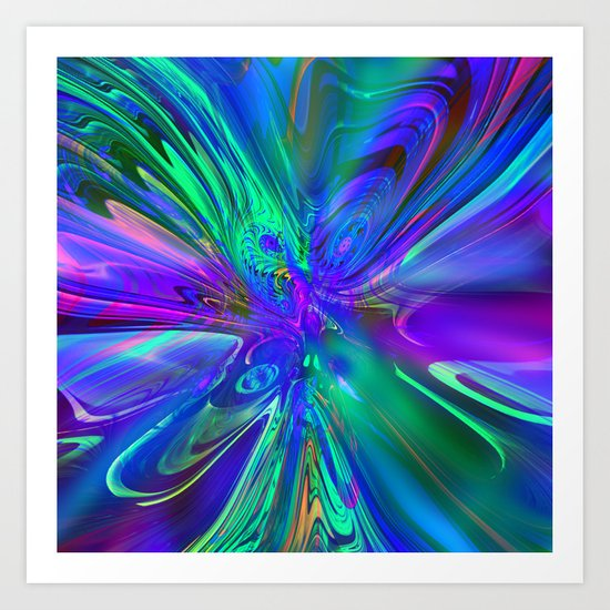 ABC / Abstract Butterfly Collection / 3 Art Print