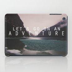 let's go on an adventure. iPad Case