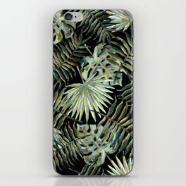 Jungle Dark Tropical Leaves #decor #society6 #pattern #style iPhone Skin
