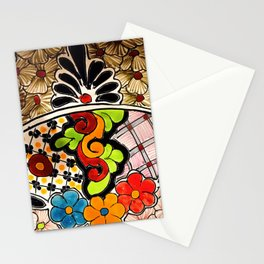 Beautiful Red and Green Talavera Stationery Cards